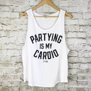 VS PINK parting is my cardio tank top